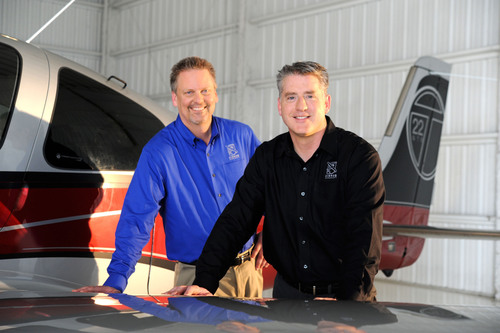 Cirrus Aircraft Co-Founder and CEO Dale Klapmeier (l) and President and Chief Operating Officer Patrick ...