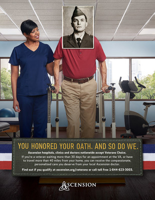 Ascension hospitals, clinics and doctors nationwide accept Veterans Choice.