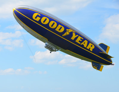 Photo of Goodyear Tire & Rubber Company's retired Spirit of Goodyear blimp.
