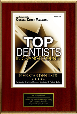 """Eric Johnson Selected For """"2014 Top Dentists In Orange County"""". (PRNewsFoto/American Registry) (PRNewsFoto/AMERICAN REGISTRY)"""