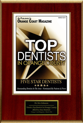 """Eric Johnson Selected For """"2014 Top Dentists In Orange County"""". (PRNewsFoto/American Registry) ..."""