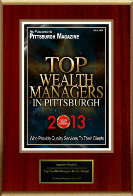 "Andrew Pravlik Selected For ""Top Wealth Managers In Pittsburgh"".  (PRNewsFoto/American Registry)"