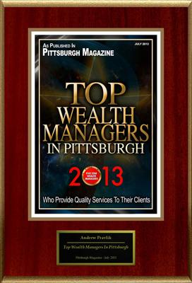 "Andrew Pravlik Selected For ""Top Wealth Managers In Pittsburgh"". (PRNewsFoto/American Registry) (PRNewsFoto/AMERICAN REGISTRY)"