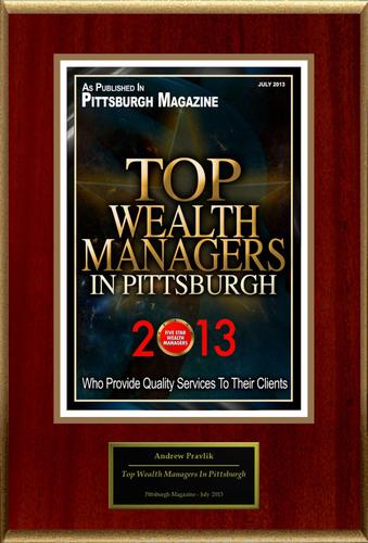 "Andrew Pravlik Selected For ""Top Wealth Managers In Pittsburgh"". (PRNewsFoto/American Registry) ..."