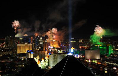 View of Las Vegas ringing in 2014 from Delano Las Vegas at Mandalay Bay Resort & Casino