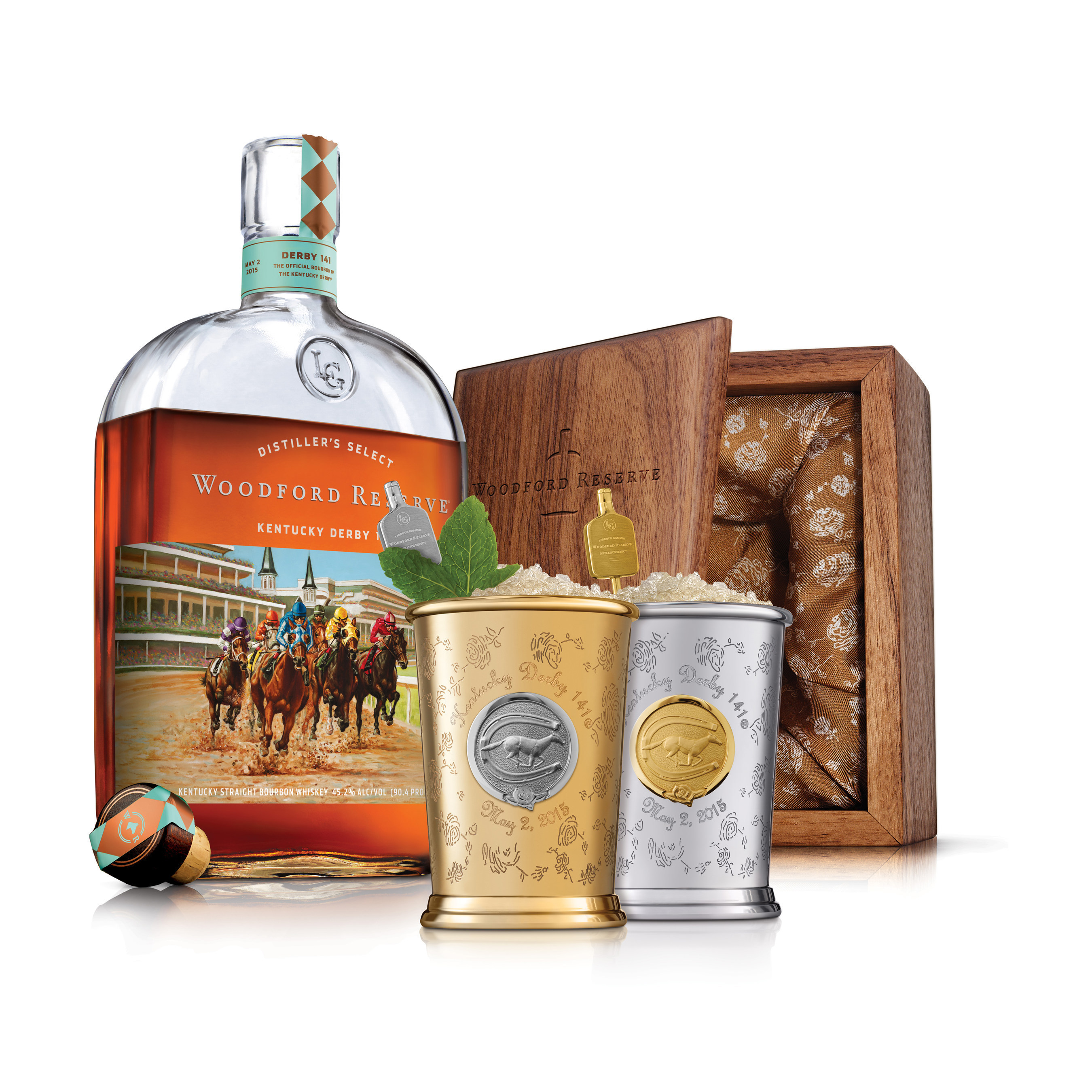 Woodford Reserve Teams Up with Fashion & Mixology's Most Notable Names to Create $1,000 Kentucky Derby Mint Julep Cup.