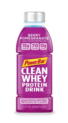 PowerBar Clean Whey Protein Drink made with 15g of protein, 70 calories, 0g of sugar and 7 simple ingredients to help you refresh and recharge.