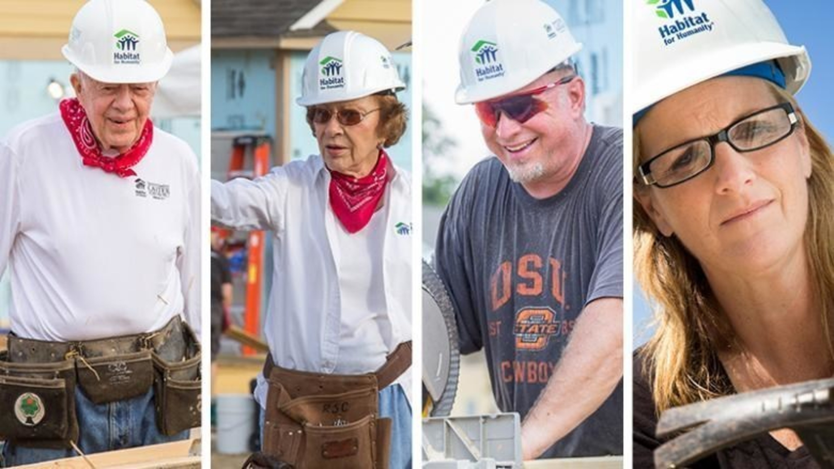 The inaugural Habitat Humanitarians are former President Jimmy Carter, former first lady Rosalynn Carter and country music stars Garth Brooks and Trisha Yearwood.
