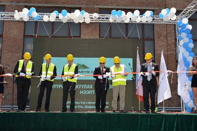 Ribbon Cutting Ceremony at Operating Coal Wash Plant (Sharyn Gol JSC, Darkhan, Mongolia, June 17th, 2015) On the picture from right hand side: Mr. Batbaatar.B (CEO of Sharyn Gol JSC), Mr. Pavel Teremetsky (Senior Manager of EBRD), Mr.Nemehbayar.D ( Head of Heavy Industrial Policy Department, Ministry of Industry) Mr. Batmunkh.B (Chairman of Sharyn Gol JSC) , Mr.Nasanbat.S (Governor of Darkhan Uul Aimag), Mr.James Passin (Director of Sharyn Gol JSC and representative of Firebird Management LLC)