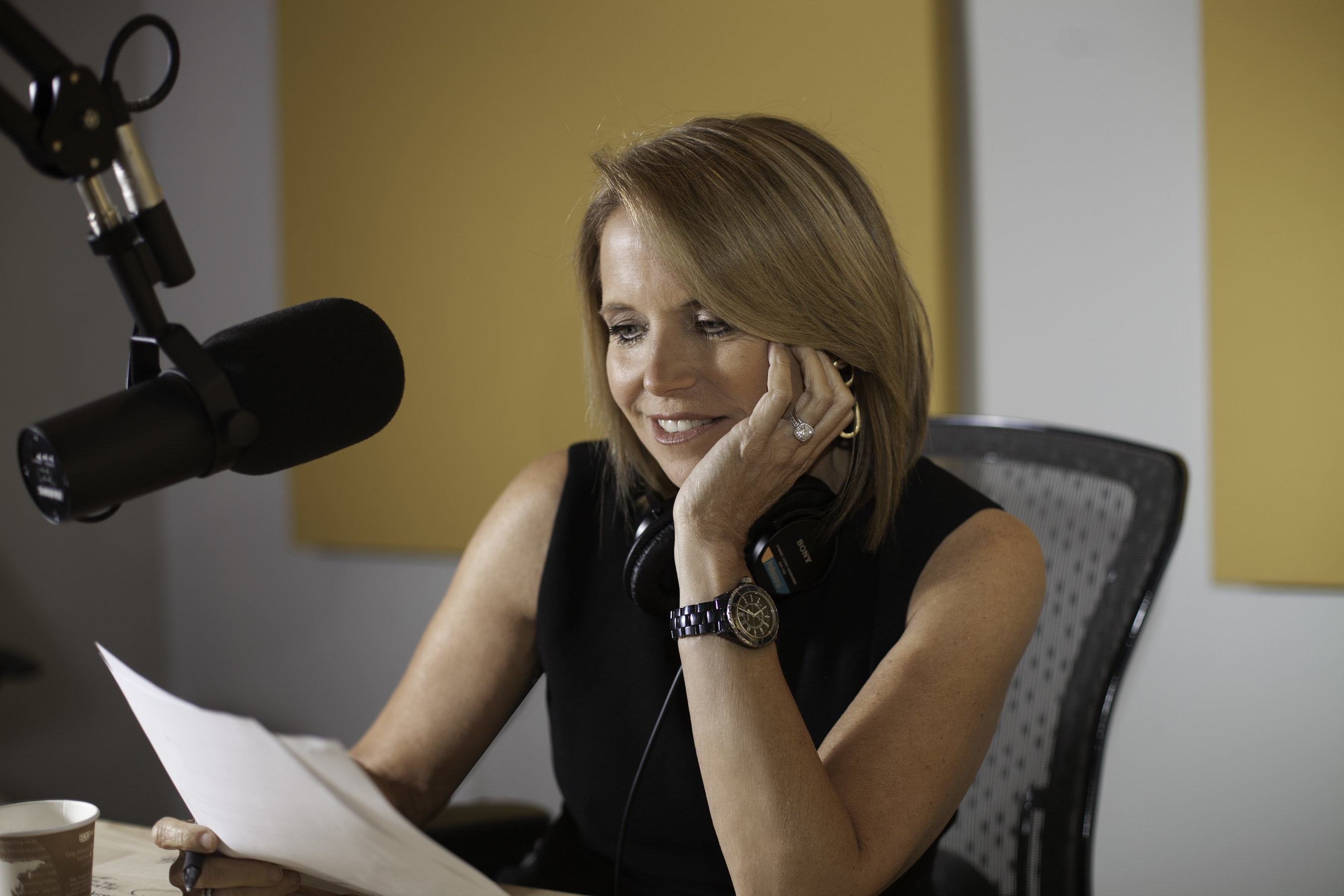 """Award-winning journalist and TV personality Katie Couric has launched her first podcast, """"Katie Couric,"""" on the Earwolf network."""
