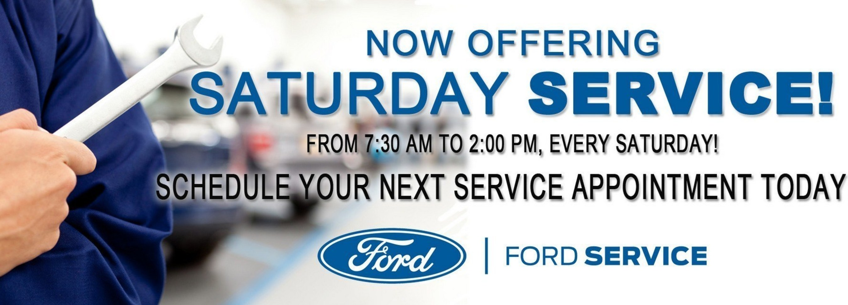 Saturday car service, coupons and more now offered at Dahl Ford