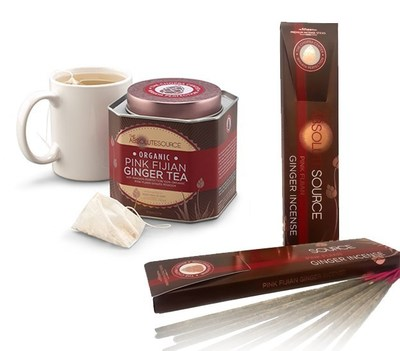 Wakaya Perfection and The Chopra Center Partner to Create The Absolute Source Organic Pink Fijian Ginger Tea and The Absolute Source Pink Fijian Ginger Incense (PRNewsFoto/Wakaya Perfection)