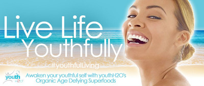 Live Life Youthfully!  (PRNewsFoto/youthH2O)