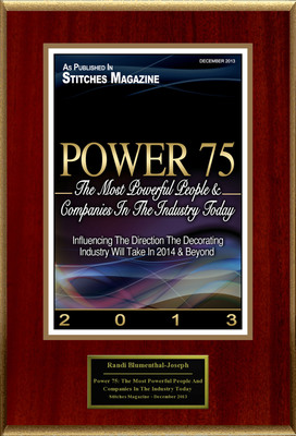 """Randi Blumenthal-Joseph Selected For """"Power 75: The Most Powerful People And Companies In The Industry Today"""". (PRNewsFoto/American Registry) (PRNewsFoto/AMERICAN REGISTRY)"""