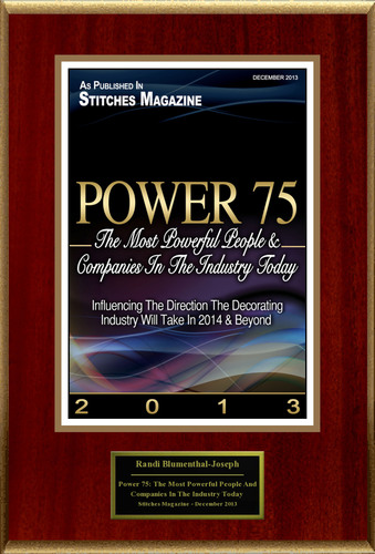 "Randi Blumenthal-Joseph Selected For ""Power 75: The Most Powerful People And Companies In The Industry Today"".  (PRNewsFoto/American Registry)"
