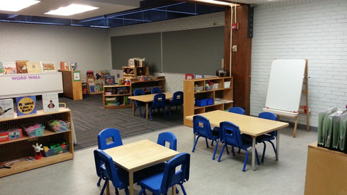 The newly renovated preschool room at the Hill House Association satellite center of Hug Me Tight Child Life ...
