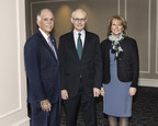 Pictured at the Healthcare Collaborations Summit are (from left to right): President and CEO of Virtua, Richard P. Miller, Harvard Business School Professor, Michael E. Porter and President and CEO of The Children's Hospital of Philadelphia, Madeline Bell