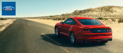 The new 2015 Ford Mustang is being offered with an EcoBoost engine. (PRNewsFoto/Grand Ledge Ford)