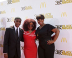 GRAMMY(R) award-winning recording artist Chaka Khan shares the spotlight on the red carpet with fellow honorees, teenage medical innovator Tony Hansberry, II, and youth empowerment activist Mary-Pat Hector, prior to the start of the ninth annual McDonald's(R) 365Black(R) Awards ceremony at the Mahalia Jackson Theater in New Orleans on July 6. The McDonald's 365Black Awards are given annually to salute outstanding individuals who are committed to making positive contributions that strengthen the African-American community.  (PRNewsFoto/McDonald's USA, LLC)