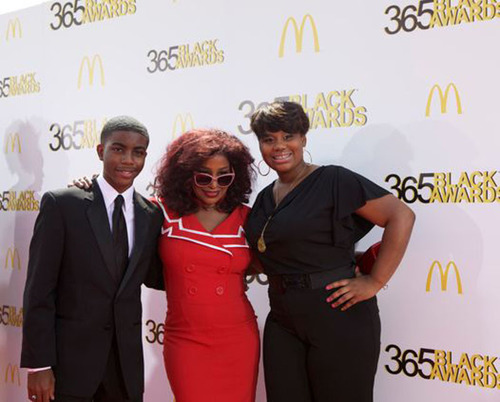 GRAMMY(R) award-winning recording artist Chaka Khan shares the spotlight on the red carpet with fellow honorees, teenage medical innovator Tony Hansberry, II, and youth empowerment activist Mary-Pat Hector, prior to the start of the ninth annual McDonald's(R) 365Black(R) Awards ceremony at the Mahalia Jackson Theater in New Orleans on July 6. The McDonald's 365Black Awards are given annually to salute outstanding individuals who are committed to making positive contributions that strengthen the African-American community.  ...