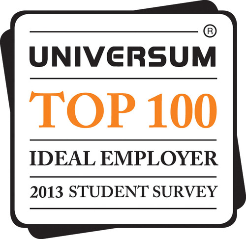 Universum Top 100 Ideal Employers.  (PRNewsFoto/Universum)