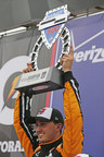 Graham Rahal captured the MavTV500 Saturday at Auto Club Speedway in Fontana, CA.