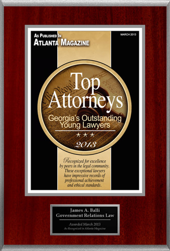 Attorney James A. Balli Selected for List of Top Rated Lawyers in GA.  (PRNewsFoto/American Registry)