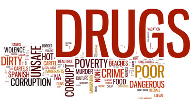 The resulting word cloud is a dramatic illustration of how the drug war has affected Americans' attitudes toward Mexico.  (PRNewsFoto/ViaNovo, L.P.)
