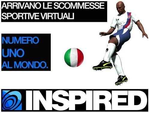 INSPIRED – EVENTI SPORTIVI VIRTUALI DA OGGI LIVE ANCHE IN ITALIA (PRNewsFoto/Inspired Gaming Group)