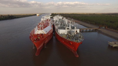 Excelerate Energy's 1000th STS Transfer of LNG at GNL Escobar, Argentina.