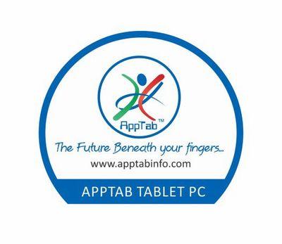 AppTab Logo With Tablet PC (PRNewsFoto/AppTab iTech Pvt Ltd)