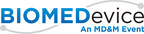 December 2-3, BIOMEDevice San Jose and Designers of Things (DoT) co-located events covering the latest in Medtech innovation, Wearable Tech, 3D Printing and the Internet of Things, will draw more than 3,000 design industry professionals to the San Jose Convention Center.