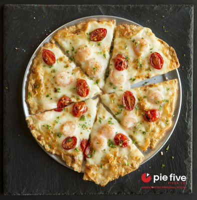 Pizza so good it's ok to get shellfish! Pie Five Pizza Co. introduces the new Shrimp Scampi-zza for a limited time.