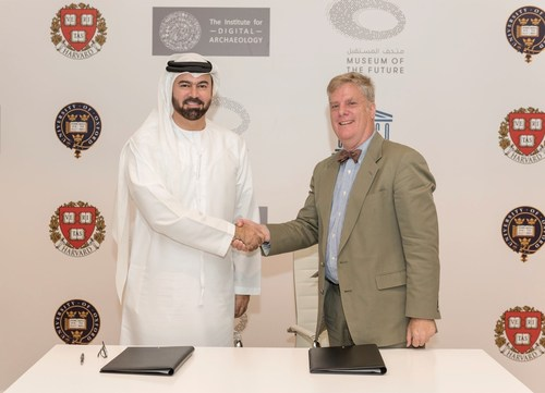 HE Mohammed Al Gergawi , Vice Chairman of Dubai Museum Of The Future Foundation and Roger Michael , Executive ...