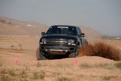 """Competitors were challenged to prove they were """"Driver Enough"""" off road in a 2014 Ford Raptor, equipped with the BFGoodrich(R) All-Terrain T/A(TM) KO2 tires."""