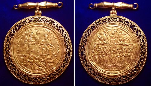 Of Great Historical, Artistic and Religious Importance - a Unique Byzantine Gold Medallion to be Auctioned by Roma Numismatics Ltd of Mayfair, London (PRNewsFoto/Roma Numismatics)