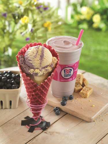 Celebrate Spring With Baskin-Robbins' Line-Up Of New Menu Items Available Throughout The Month Of May.  (PRNewsFoto/Baskin-Robbins)