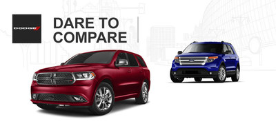 Palmen Motors of Kenosha, Wis. compares popular models such as the 2014 Dodge Durango SUV to the 2014 Ford Explorer. (PRNewsFoto/Palmen Motors)