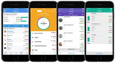 Finance Management on the Go: iXpenseIt is packed with features that are easy to use.