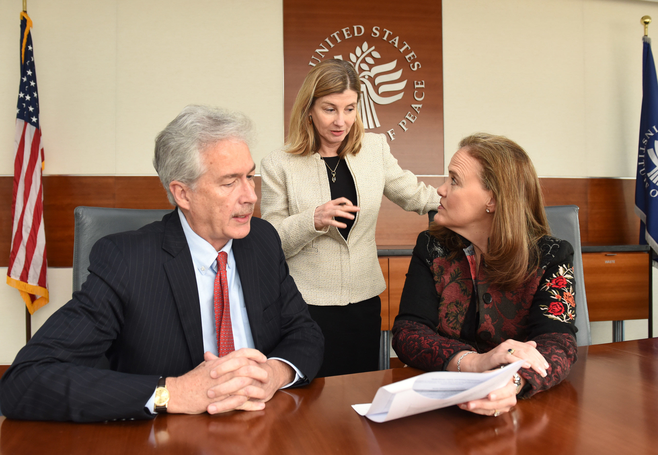 From L to R: Carnegie Endowment for International Peace President William J. Burns (former deputy secretary of state); U.S. Institute of Peace President Nancy Lindborg (former assistant administrator for the Bureau for Democracy, Conflict and Humanitarian Assistance at the U.S. Agency for International Development); and Center for a New American Security CEO Michele Flournoy (former undersecretary of defense for policy) launched the Study Group on Fragility today.