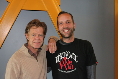 """Shameless"" Actor William H. Macy poses with Audio Producer Matt Degnan after a documentary recording session at Studio Center Total Production in Santa Monica"