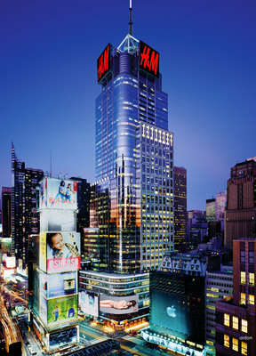 Rendering of H&M Future 4 Times Square Roof Top.  (PRNewsFoto/H&M)