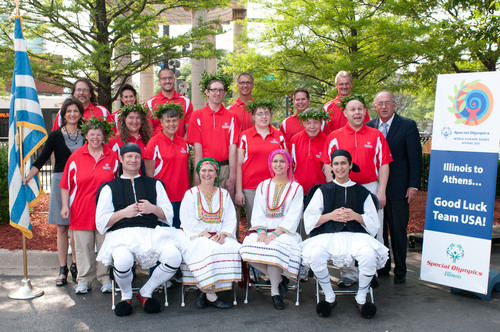 Special Olympics Illinois Athletes Receive Greektown Send-off as They Head to World Games ATHENS