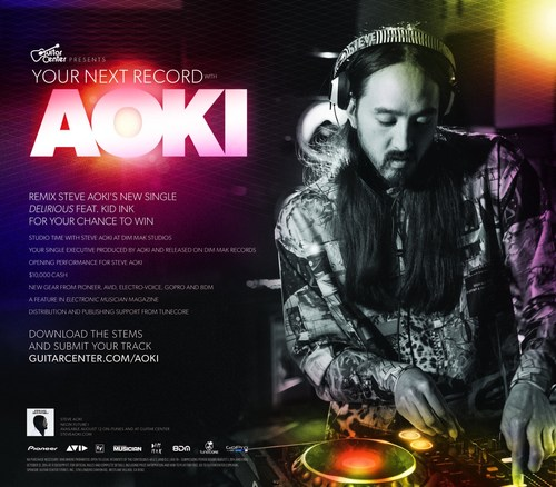 GUITAR CENTER LAUNCHES YOUR NEXT RECORD WITH STEVE AOKI (PRNewsFoto/Guitar Center)