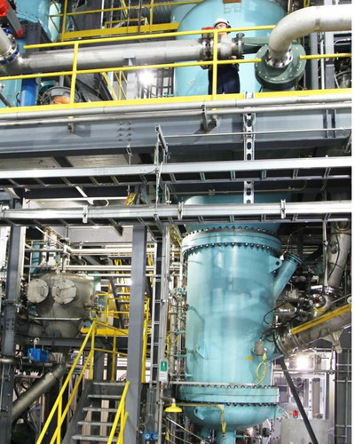 One of Genomatica's patents describes how to use syngas as a raw material, or feedstock, for the production of major chemicals.  Shown here:   plant producing syngas from municipal solid waste.  Picture, courtesy of Enerkem.  (PRNewsFoto/Genomatica)