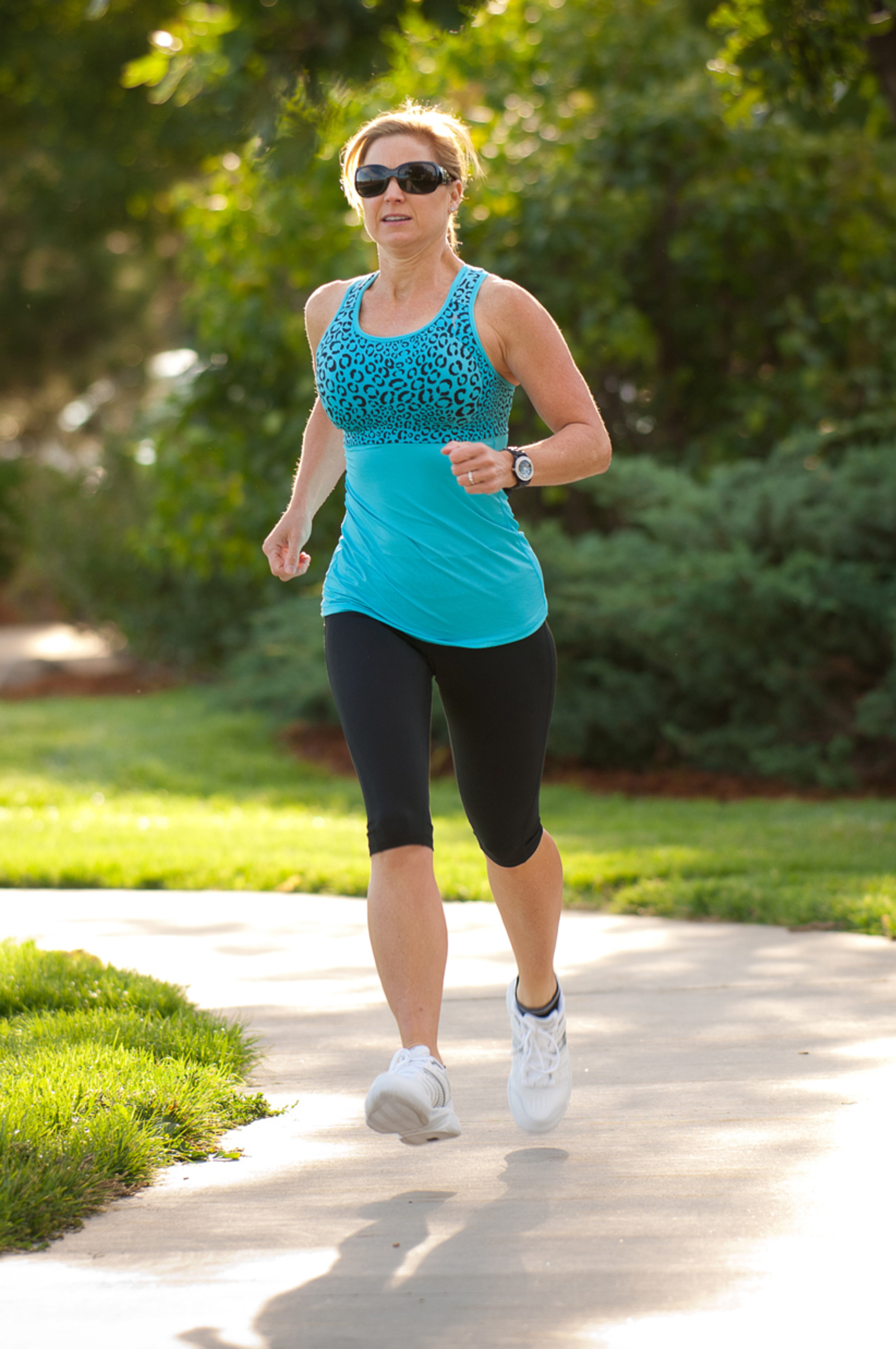 Running is easier for large-breasted female athletes who wear Sturdy Girl sports bras (PRNewsFoto/Sturdy Girl Sports)