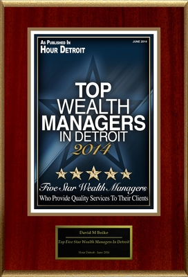 "David M Boike Selected For ""Top Five Star Wealth Managers In Detroit"" (PRNewsFoto/American Registry)"