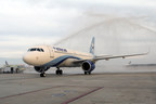Interjet lands in Houston with nonstop service to Monterrey, Mexico.