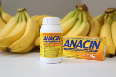 Bananas + Anacin = The Secret to Longevity? (PRNewsFoto/INSIGHT Pharmaceuticals, LLC) (PRNewsFoto/INSIGHT PHARMACEUTICALS, LLC)