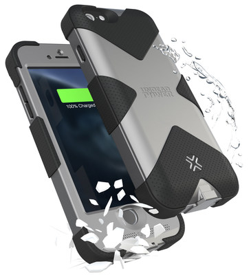 Shock and Water Resistant Battery Case for iPhone 6 by Lenmar Undead Power.